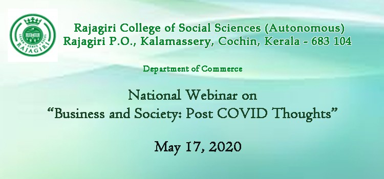 "National Webinar on ""Business and Society: Post COVID Thoughts"""