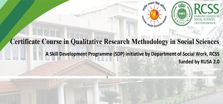Certificate Course in Qualitative Research Methodology